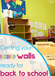 decorating classroom walls before students come back to school