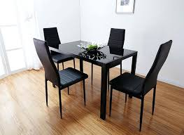 black glass kitchen table bathroom attractive small glass dining table set black with faux leather chairs