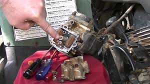 cleaning the carburetor on a yamaha big bear