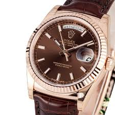 rolex president rose gold at bob s watches 100% rolex pre owned mens rolex president 18k rose gold diamond dial 118235