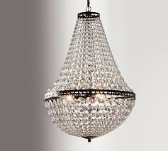 architectural salvage chandelier pottery barn. mia faceted-crystal chandelier architectural salvage pottery barn