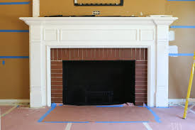 red brick on an old fireplace upgrade
