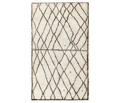 ivory and black beni ourain moroccan rug by nazmiyal rugs rugs