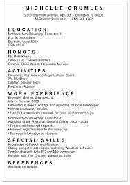 High School Senior Resume Example For College Msdoti69