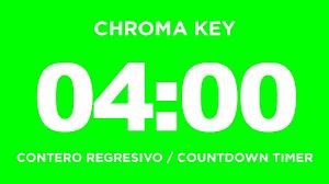 Timer 4 Min Conteo Regresivo 4 Minutos Countdown 4 Min Chroma Key