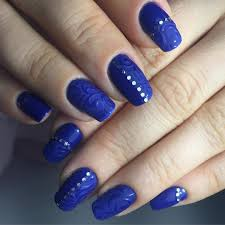 Nail Art Ideas Navy Blue - Awesome Design