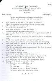 sociology papers nalanda open university ba in sociology part iii previous years studychacha nalanda open university ba in sociology part iii previous years studychacha