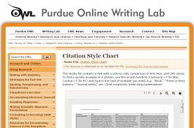 The Owl At Purdue Citation Style Chart Compare Mla Apa