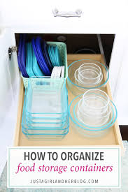 home organization how to organize food storage containers tupperware leftovers containers kitchen
