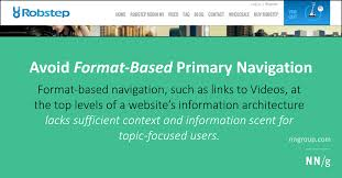 Avoid Format Based Primary Navigation