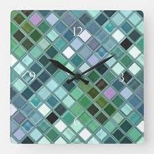 beach glass mosaic tile art square wall