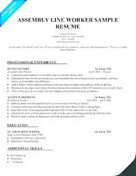 Sample Resume Production Worker Bitacorita