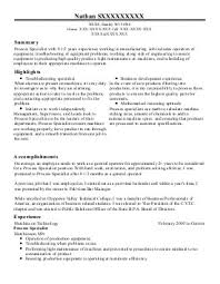Sample Resume For Skilled Trades A Good Resume Example