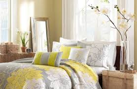 grey bedroom curtains. curtains:free stunning bed with grey and yellow bedroom three white chandelier also curtains