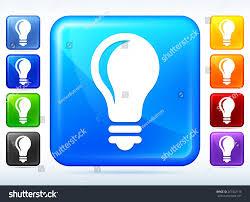 vector square blue icon lighting bulb. Light Bulb Colorful Square Button Vector Blue Icon Lighting L