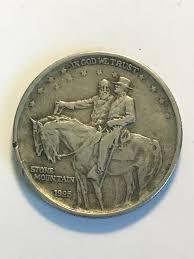 1925 Stone Mountain Commemorative Usa Half Dollar 90 Silver