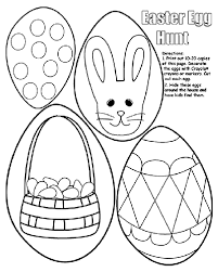 Easter Egg Hunt Coloring Page Crayolacom