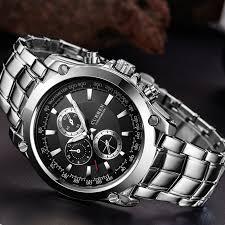 online get cheap classic mens watches top 10 aliexpress com curren top brand luxury men s watches men wrist quartz watch military casual full steel clocks male men sport classic clock 8025