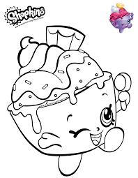 Shopkins Coloring Page Ice Cream Cup Get Coloring Pages