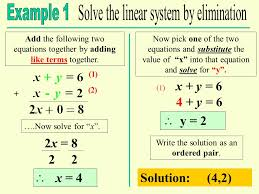 add the following two equations together by adding like terms together