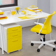 yellow office decor. Yellow Poppin Desk Accessories, File Cabinet + 5th Avenue Chair #yellow # Workhappy Office Decor