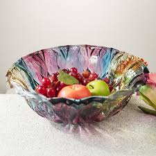 get ations arvato large colorful fruit compote unleaded glass fruit bowl european fashion creative living room fruit bowl