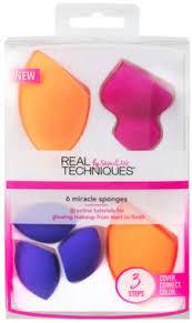 <b>Real Techniques</b> 6 Miracle Sponges - <b>Набор спонжей</b> для макияжа ...
