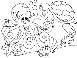 Ocean Creatures Coloring Pages Free Printable Ocean Coloring Pages