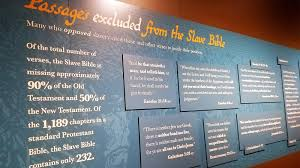 Museum Highlights Slave Bible That Focuses On Servitude Leaves