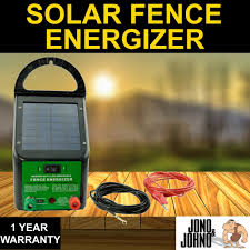 jono johno 5 8km 0 4j solar power electric fence energiser charger for poly wire tape posts