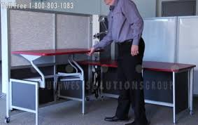 office work surfaces. Movable Adjustable Height Work Surfaces Are Ergonomical Desks Office F
