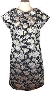 Floral Brocade Js Boutique Silver Metallic Floral Brocade Mini Short Cocktail Dress Size 4 S 71 Off Retail