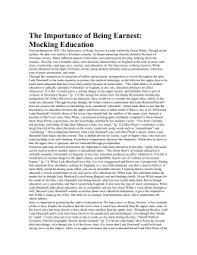 importance of being earnest essay the importance of being earnest essay marked by teachers the importance of being earnest characters cast
