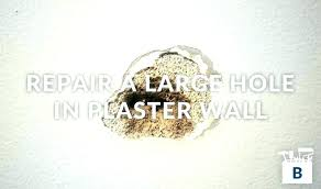 patch plaster hole repair best for repairing holes in ceiling wall steps 7 and 8 fix