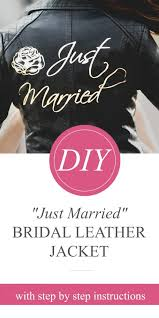 diy wedding leather jacket
