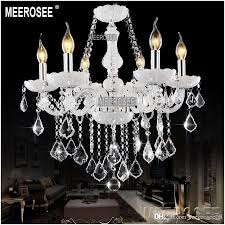 white elegant chandelier crystal light glass lobby crystal chandelier ers pendelleuchte with 8 lampholders md801 diy chandelier mason jar chandelier