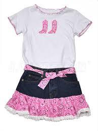 Kids Kiddie Korral Cowgirl Denim 2 Piece Kk15 Pink