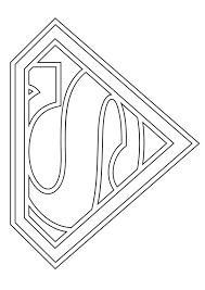 Make this superman coloring page the best! Symbol Of Superman Coloring Page Free Printable Coloring Pages For Kids