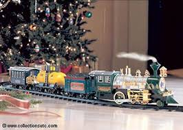 train set under the christmas tree