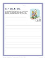 8th Grade Essay Prompts Lost And Found 3rd And 4th Grade Writing Prompt Worksheet