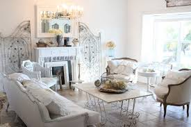 ... Living Room, Shabby Chic Living Room With White Sofa And Cushion And  Fireplace And Modern ...