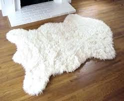 faux skin rug fake animal skin rugs with head black bear rug faux fur plush polar