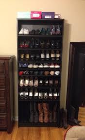 ikea billy bookshelf turned into a shoe
