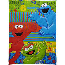 Sesame Street Bedroom Decorations Sesame Street Abc123 4 Piece Toddler Bedding Set Walmartcom