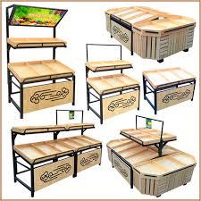 Wooden Fruit Display Stands Extraordinary USD 3232] Wooden Steel Wood Fruit Shelf Vegetable Rack Supermarket
