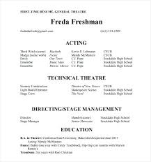 Theatre Resume Template Word Extraordinary Acting Resume Template Actor Resume Template Acting No Experience