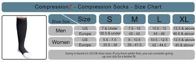 Compression Socks Sizes Chart Sock Size Chart Uk Bedowntowndaytona Com