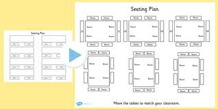 Free Editable Table Seating Plan Powerpoint Table