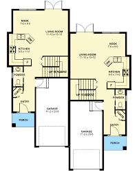 duplex house plan for the small narrow lot 67718mg floor main