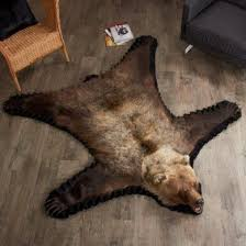 5 foot 4 inch grizzly bear rug